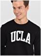 UCLA Ucla Baldwin Bisiklet Yaka Yazı BaskılıSiyah Erkek Sweatshirt Siyah